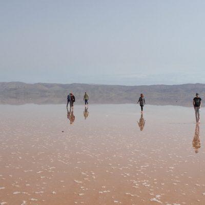 Солёное озеро Махарлу, Иран