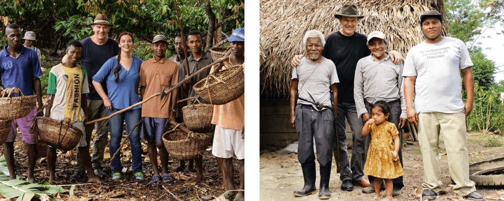 Йозеф и Юлия Цоттер на плантациях какао на Мадагаскаре и в Белизе